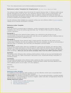 References Letter Template - Re Mendation Letter for A Job Sample Re Mendation Letter