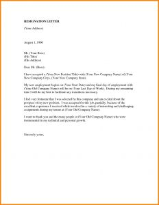 Relieving Letter Template - Fresh Resignation Letter Templates Word