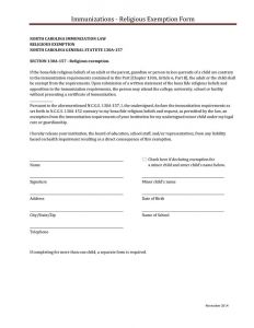 Religious Exemption Letter Template - Vaccination Exemption Letter Sample Nc