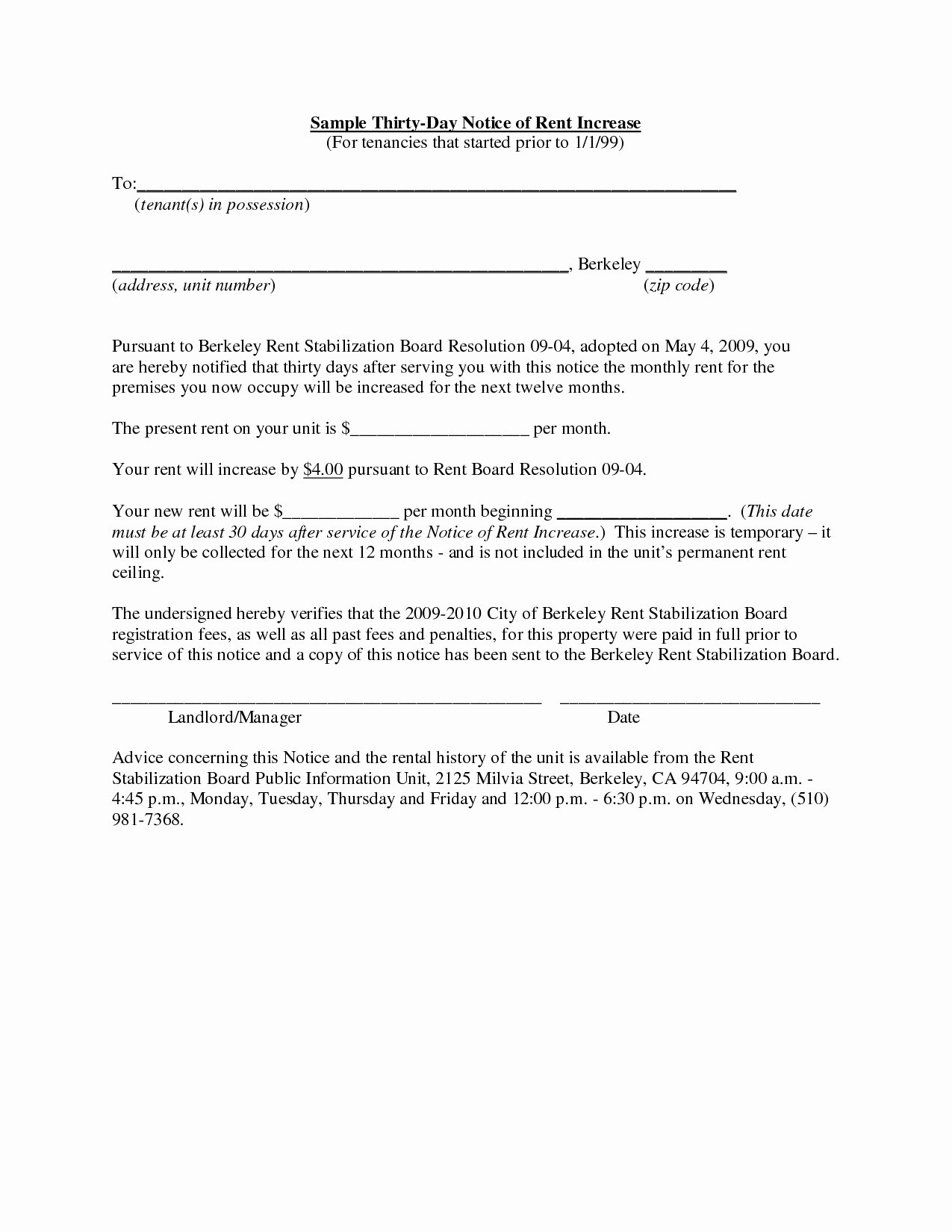 16 rent increase letter to tenant template collection