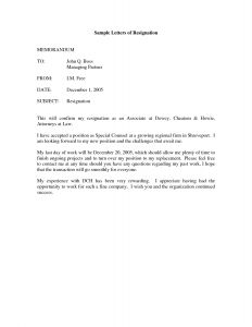Rent Letter Template - Printable Sample Letter Of Resignation form