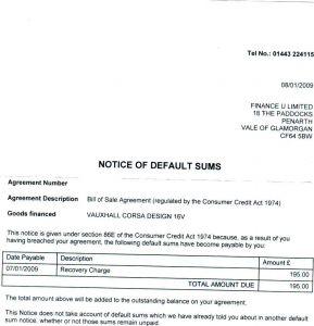 Repossession Letter Template - Car Repossession Letter Sample