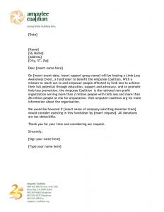 Request for Donations Letter Template Free - Donation Letter Template for Fundraiser Download