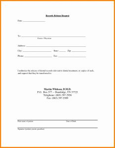 Request for Medical Records Template Letter - Medical Records Release Letter Template Samples