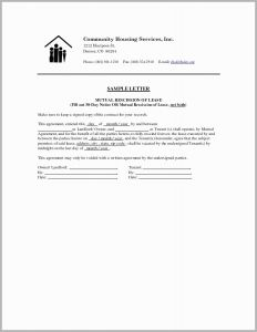 Rescission Letter Template - Eviction Dismissal Letter astonishing Notice to Vacate Letter to