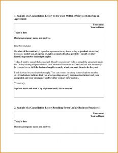 Rescission Letter Template - Timeshare Cancellation Letter Template Samples