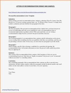 Residency Letter Of Recommendation Template - College Re Mendation Letter Template Examples