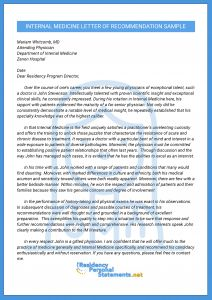 Residency Recommendation Letter Template - Pin by Shamima On Internal Medicine Resi Lor Pinterest