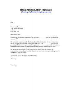 Resignation Letter Free Template - Resignation Letter Template Free Collection