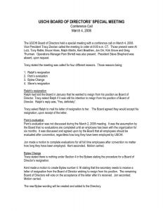 Resignation Letter From Board Of Directors Template - Board Member Resignation Letter Template Samples