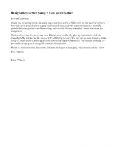 Resignation Letter Template 2 Weeks Notice - Resignation Letter Sample 2 Weeks Notice Google Search