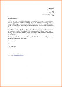 Resignation Letter Template 2 Weeks Notice - 2 Week Resignation Letter Template Sample