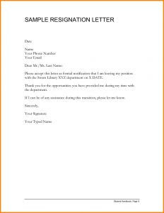 Resignation Letter Template Uk - 11 Sample Resignation Letter Cashier Resume Resig