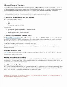 Resume Cover Letter Template Word - General Cover Letter Template Free Gallery