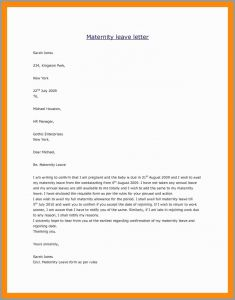 Return From Maternity Leave Letter Template From Employer - 64 Pleasant Figure Maternity Return to Work Letter From Employer