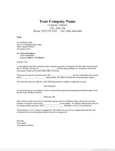 Right Of First Refusal Letter Template - 33 Fer Letter Template