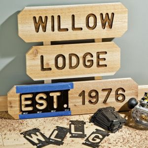 Router Letter Template Kit - Rockler Sign Making 3 375in State Park Font