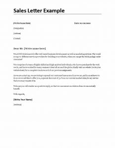 Sales Letter Template Promoting A Service - format Business Sales Letter Copy Persuasive Sales Letter Example