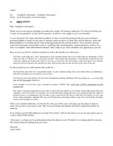 Sales Pitch Letter Template - Email Sales Letter Write An Effective Direct Mail Sales Letter