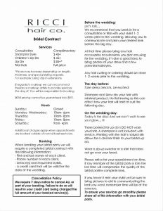 Salon Price Increase Letter Template - Hair Salon Business Plan Template Free Downloads Proposal Nail