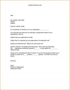 Sample Donation Request Letter Template - Inspirationa Letter asking for Donations Pdf