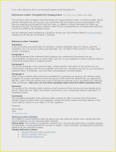 Sample Reference Letter Template - Re Mendation Letter for A Job Sample Re Mendation Letter