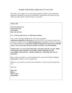 Scholarship Cover Letter Template - Free Application Letter Template – Need Job Application Letter