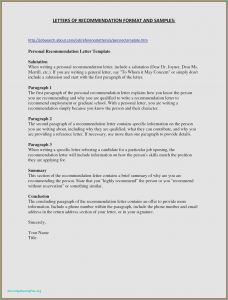 Scholarship Letter Of Recommendation Template - Nursing Letter Re Mendation Example 27 Best Re Mendation Letter