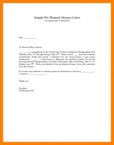 School Absence Excuse Letter Template - Excused Absence Letter Example Excuse for Being Absent In School
