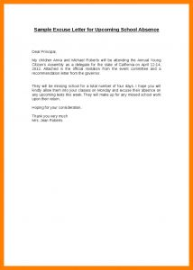 School Absence Excuse Letter Template - Best Absent Letter format for School Sample Sick Being In Due to