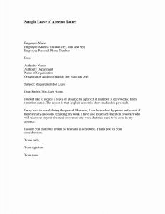 School Excuse Letter Template - Excuse Letter Sample with Address Save 20 Leave Letter for School
