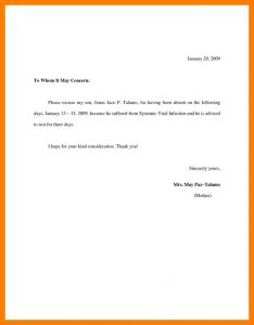 School Excuse Letter Template - Excuse Letter with Medical Certificate