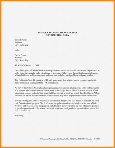 School Excuse Letter Template - New Excuse Letter Due to the Weather