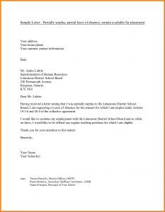 School Excuse Letter Template - Medical Leave Absence Letter Template Examples
