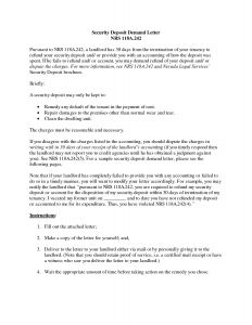 Security Deposit Return Letter Template - Security Deposit Demand Letter Template Florida Samples