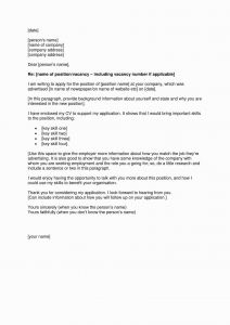 Self Employed Letter Template - Cover Letter for Promotion within Pany New Lovely Job Fer Letter