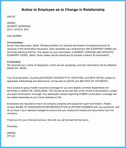 Severance Letter Template - Voluntary Termination Letter Inspirationa Sample Contractor