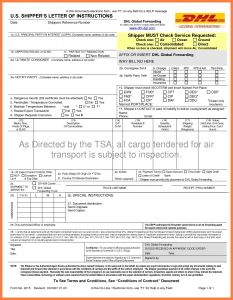 Shipper Letter Of Instruction Template - Shipper Letter Instruction Template Best Shipper Letter