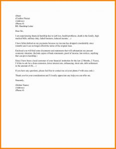 Short Sale Hardship Letter Template - Financial Hardship Letter Template Gallery