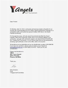 Silent Auction Donation Letter Template - Golf tournament Donation Letter Template Download