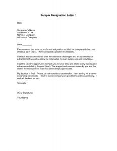 Simple Resignation Letter Template - Sample Resignation Letter Template Professional Naresh