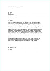 Simple Resignation Letter Template - Free Sample Resignation Letter with Reason Resignation Letter format
