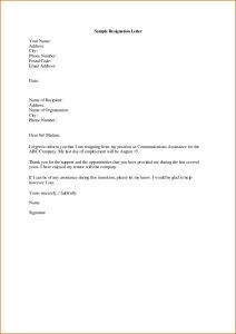 Simple Resignation Letter Template Word - Sample Displaying 16 Images for Letter Of Resignation Sample toolbar