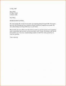 Simple Resignation Letter Template Word - 64 Elegant Resignation Letter New Job Immediate Cover