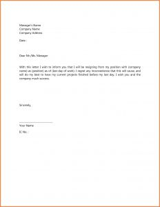 Simple Resignation Letter Template Word - Impressive Resignation Letter format In English Word Sample for