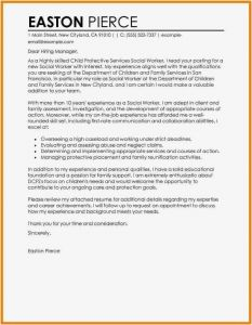 Social Worker Cover Letter Template - 30 Cover Letter format for Resume