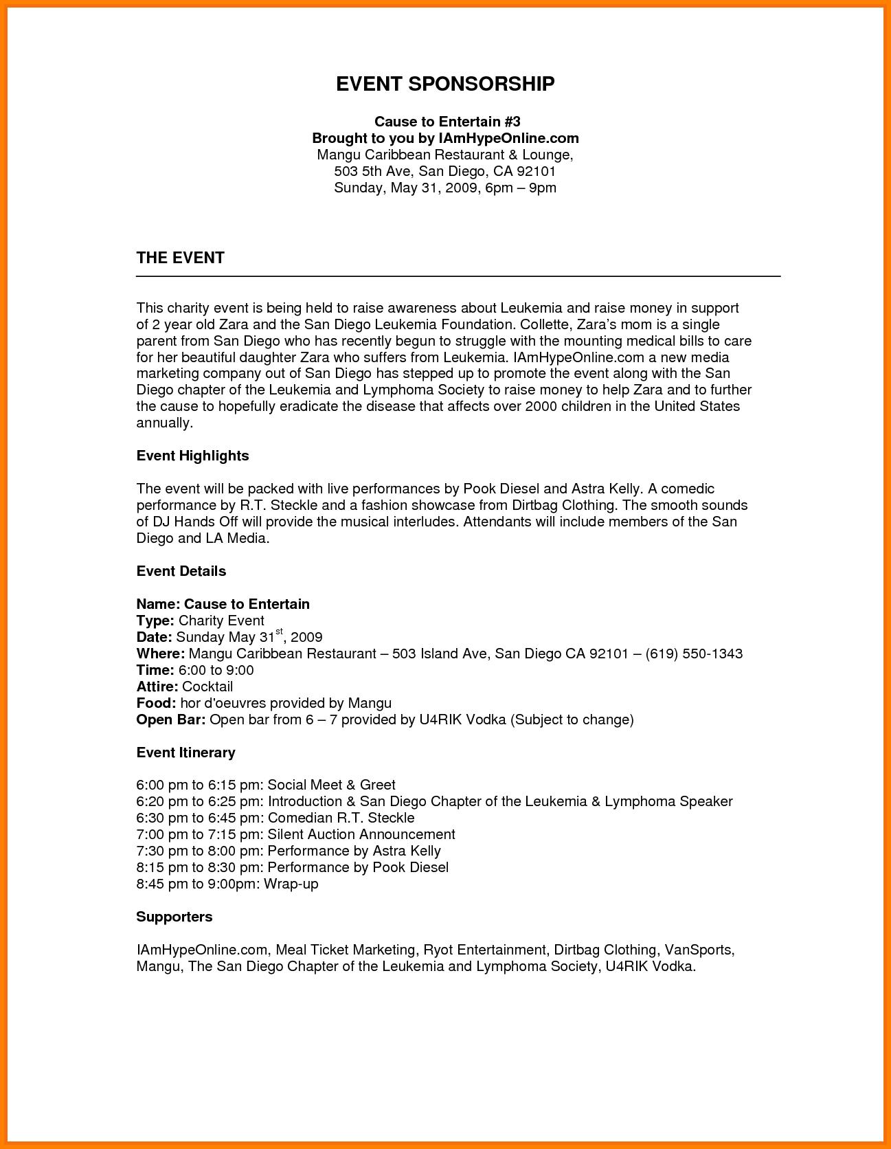 sponsorship proposal letter template Collection-Image result for sponsorship proposal template FinanceTemplate Finance 1-r