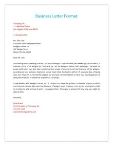 Standard Business Letter format Template - 35 formal Business Letter format Templates & Examples Template Lab