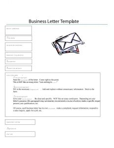 Standard Business Letter format Template - formal Business Letter format Templates Sample Example Template