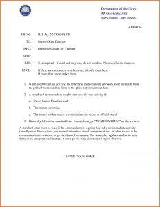 Standard Navy Letter Template - Naval Letter format Template Samples